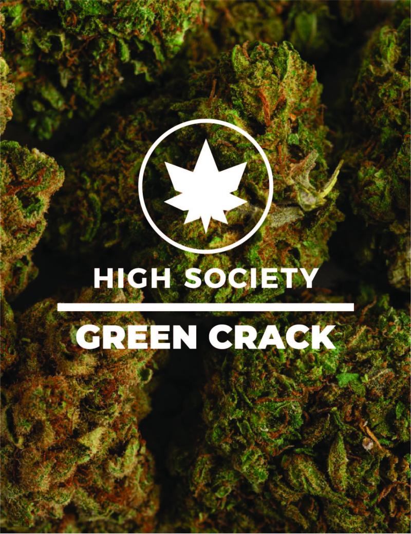 HighSociety-Fleurs-Indoor-GreenCrack-CBD-50G-100G