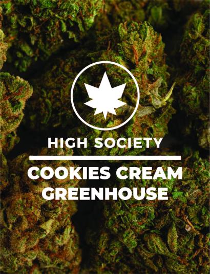 HighSociety-Fleurs-GreenHouse-CookiesCream-CBD-50G-100G